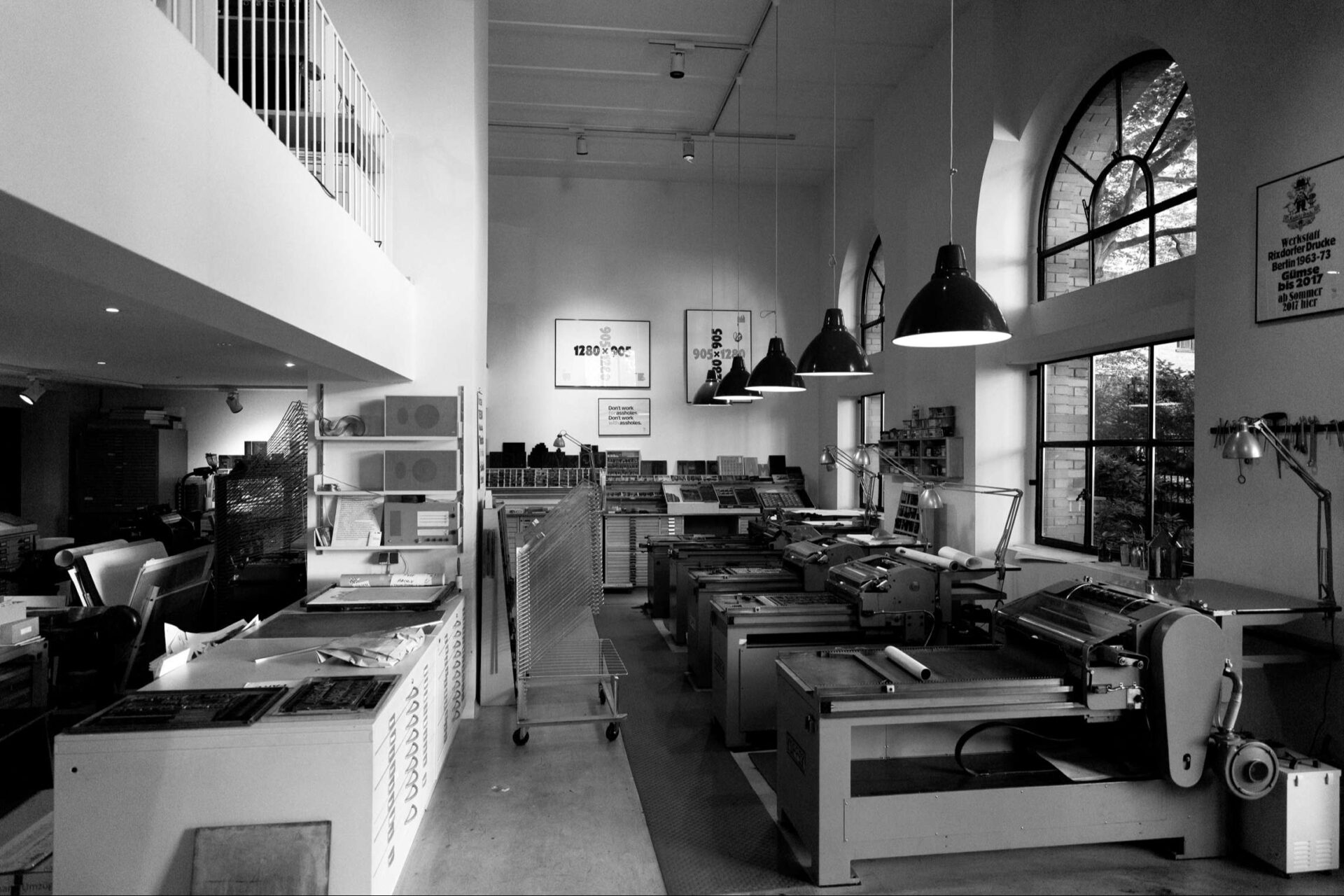 The Workshop of Erik Spiekermann is located in a former drawing school for girls.